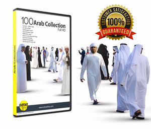 100 Full HD Arab People Cutout Collection.