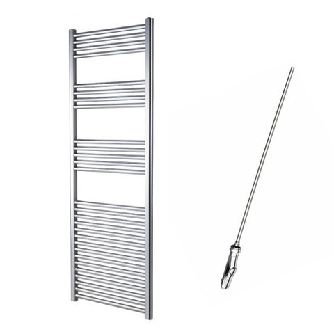Sahara 1600 x 600mm Electric Chrome Towel Rail