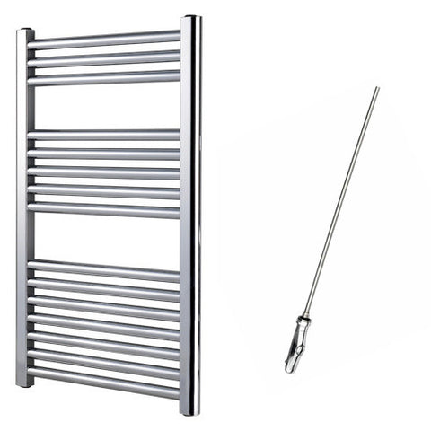 Sahara 800 x 500mm Chrome Electric Towel Rail