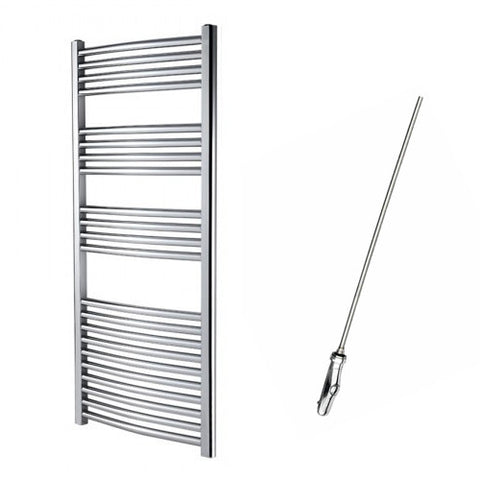 Sahara Curved 1200 x 550mm Electric Towel Rail