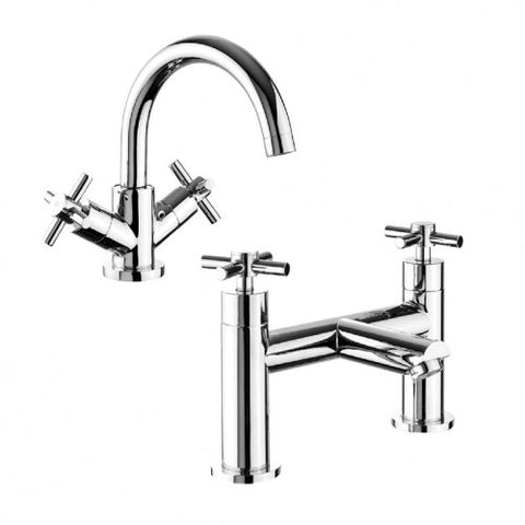 Veli Basin and Bath Mixer Tap Set