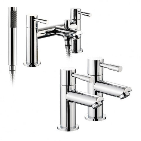 Faru Basin Taps and Bath Shower Mixer Tap Set