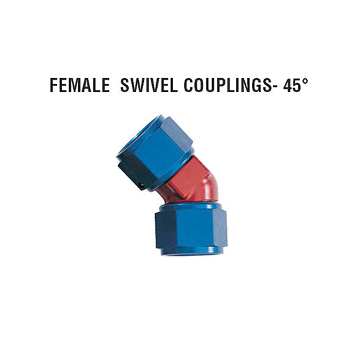 45° Female Swivel Couplings: Forged Style