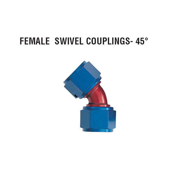 45° Female Swivel Couplings: Tube Style
