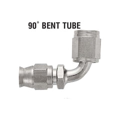 90° Bent Tube Hose End For Brake, Clutch, And Instrument lines