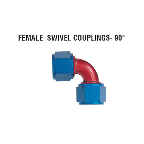 90° Female Swivel Couplings: Tube Style