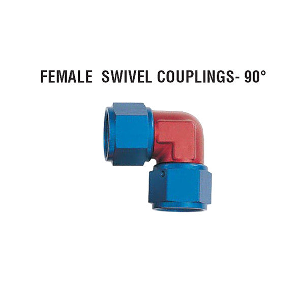 90° Female Swivel Couplings: Forged Style