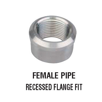 Female Pipe Recessed Flange Fit Weld Bung