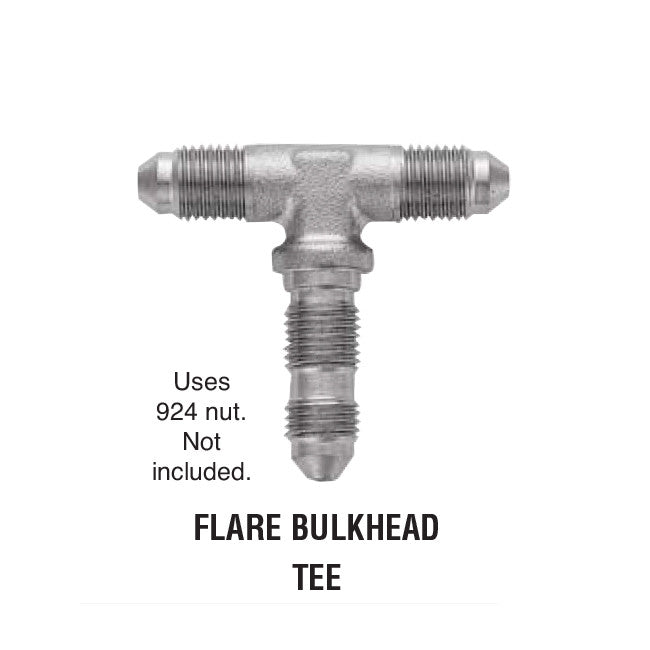 Flare Bulkhead Tee Steel Adapter For Brake Lines