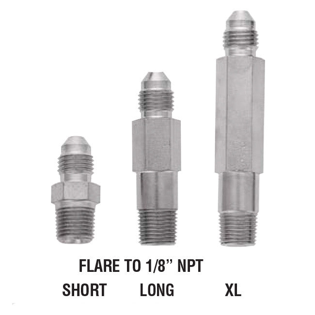 "Flare To 1/8"" NPT steel Adapter For Brake Lines"