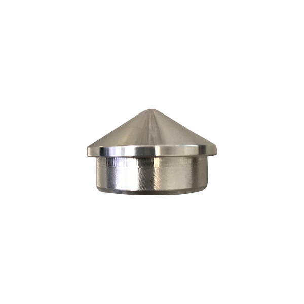 "Aluminum Tube End: 1.5""x0.95"