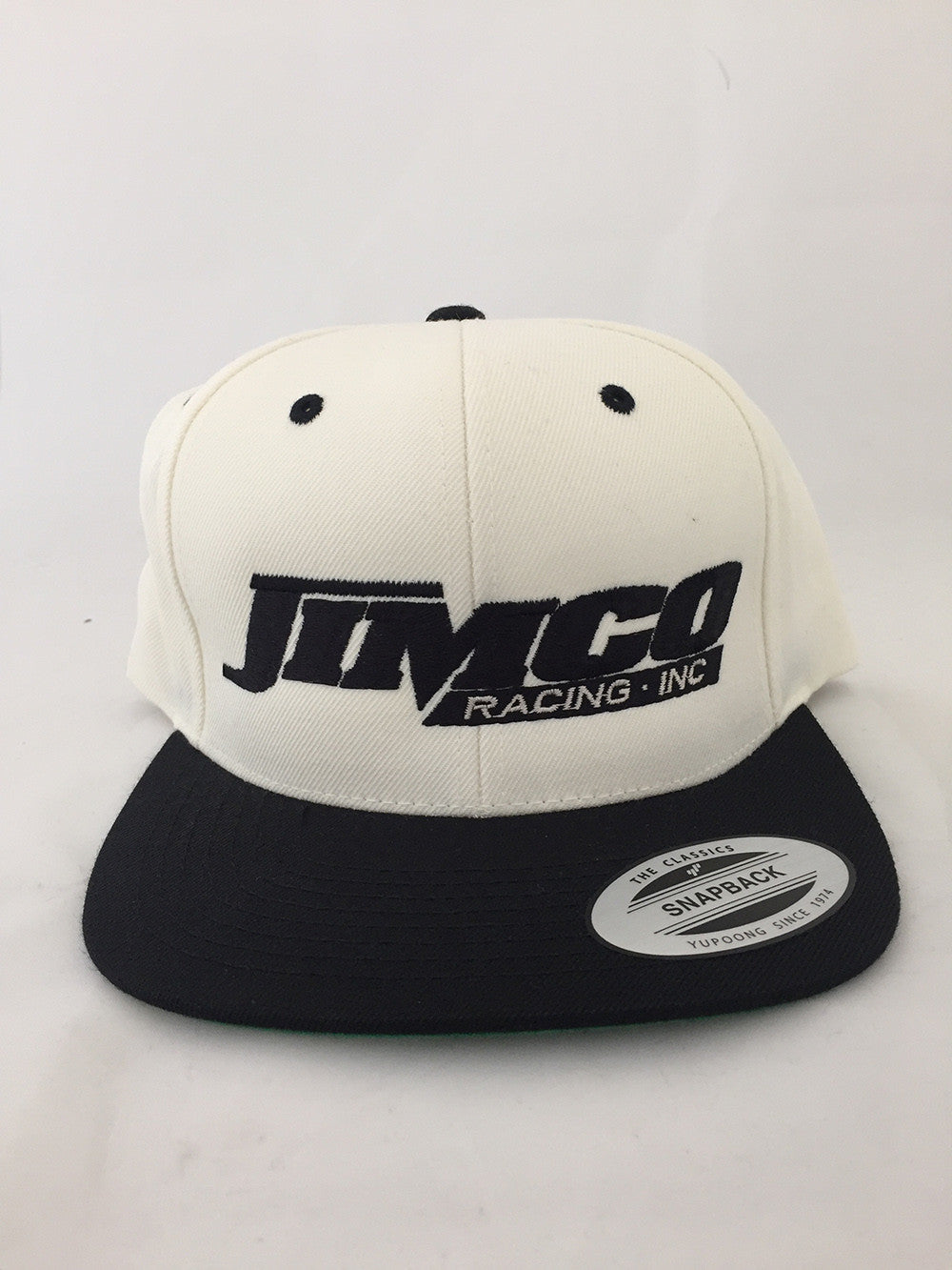 Jimco Hat: Snap Back, White And Black
