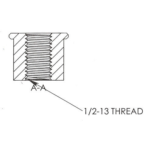 1/2-13 Threaded Bung