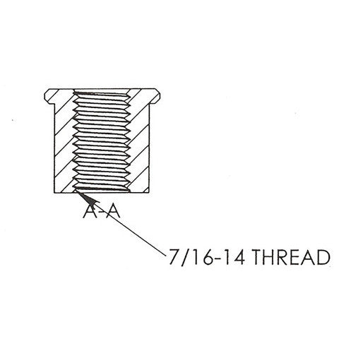 7/16-14 Threaded Bung