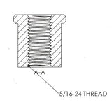 5/16-24 Threaded Bung
