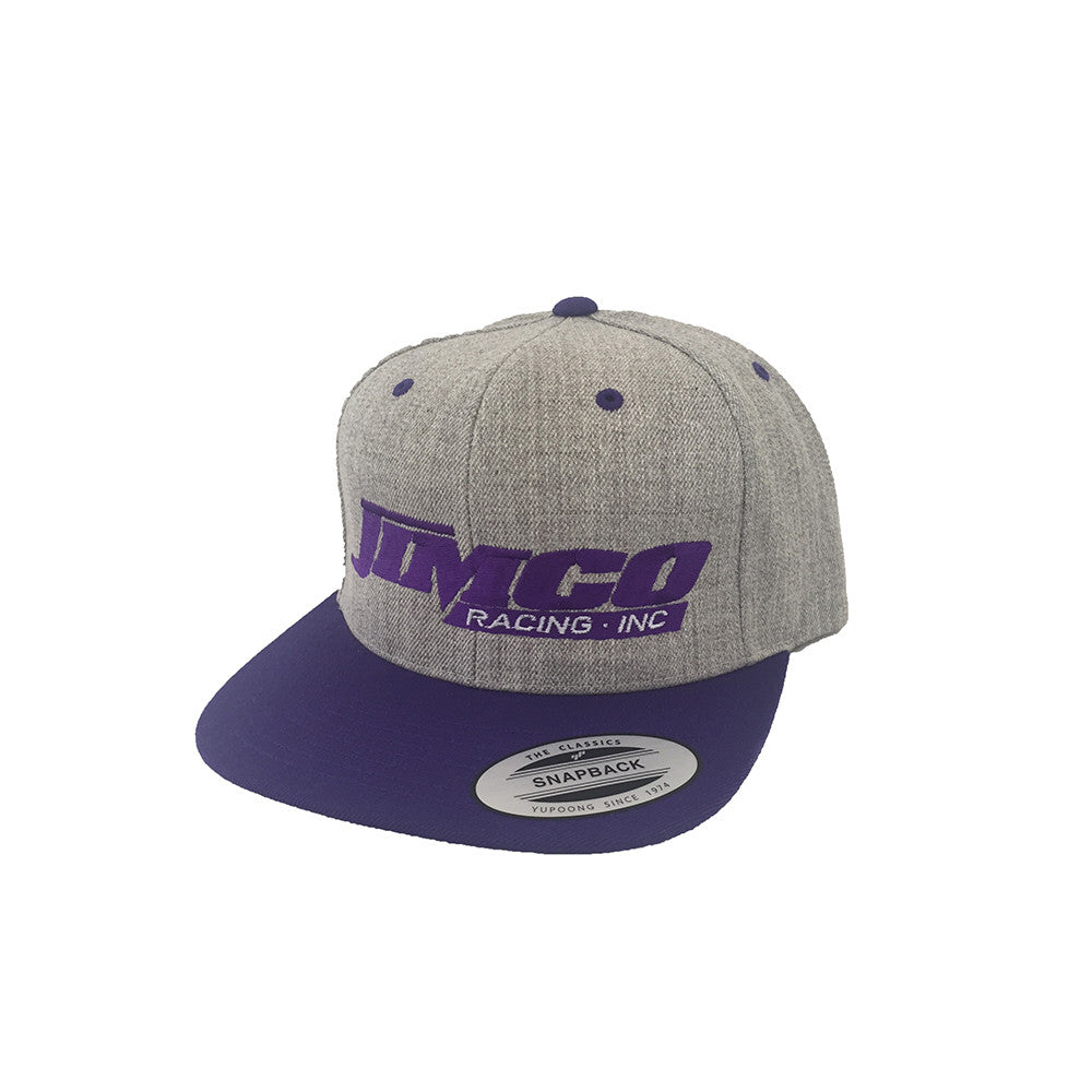 Jimco Hat: Snap Back, Heather Grey And Purple