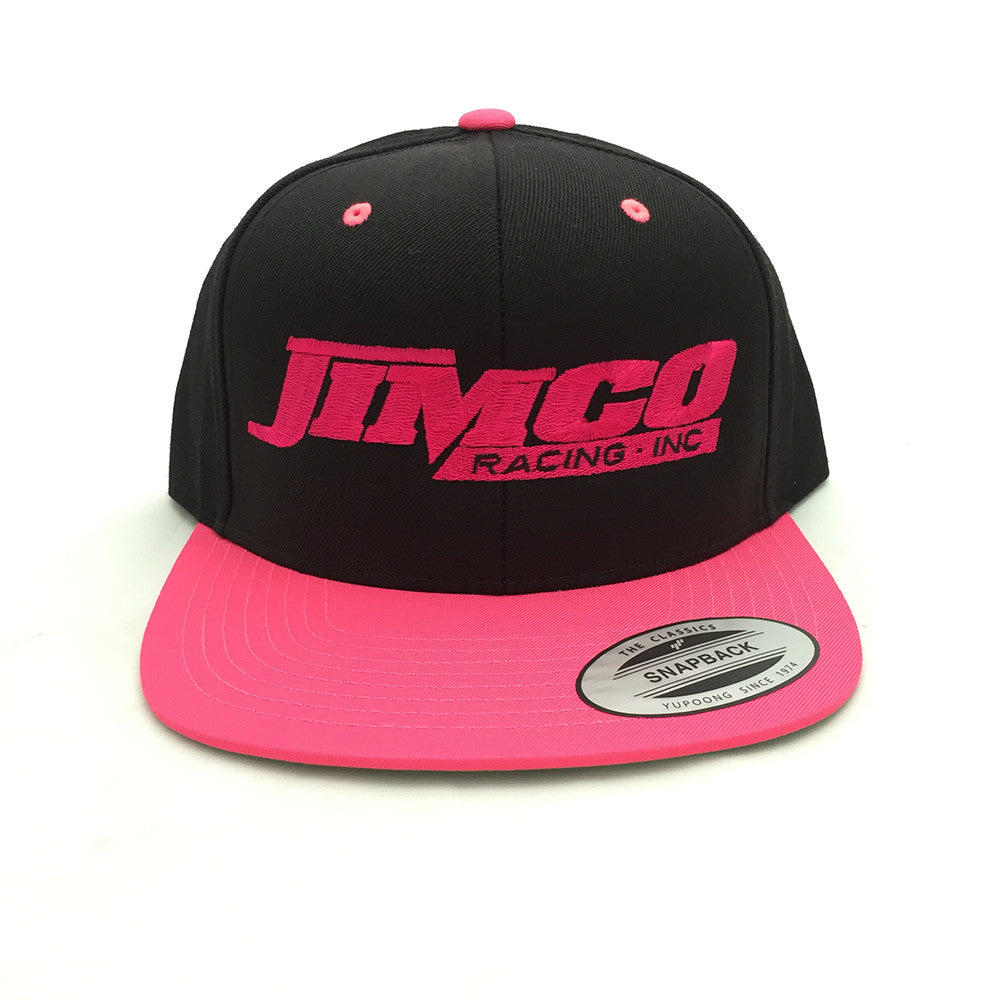 Jimco Hat: Snap Back, Black & Pink