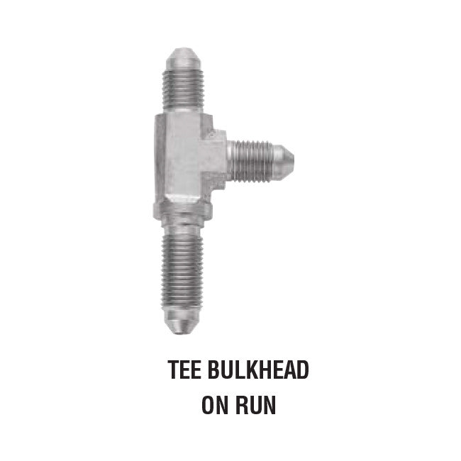 Tee Bulkhead On Run steel Adapter For Brake Lines