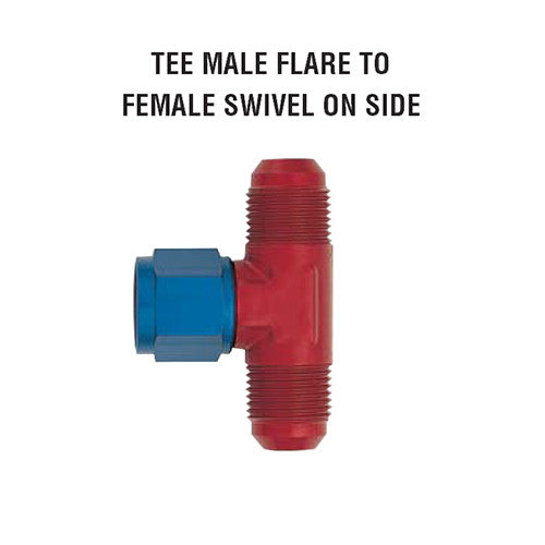 Tee Male Flare To Female Swivel On Side