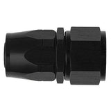 straight non-swivel AN hose end, black