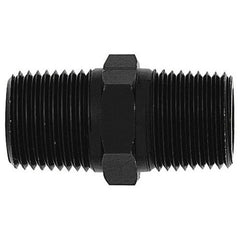 male NPT pipe coupling, black