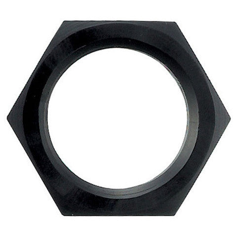 bulkhead nut, black