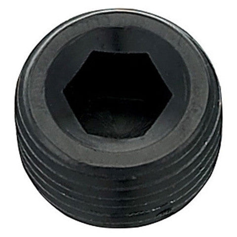 male AN pipe plug, black