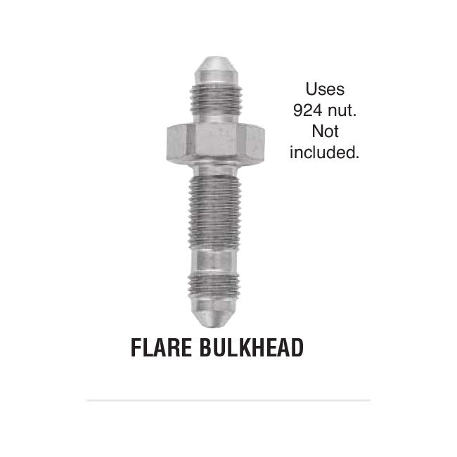 Flare Bulkhead Steel Adapter For Brake Lines