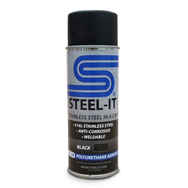 Steel-It BLACK (QTY 2) Aerosol Spray Cans  #1012B - Jimco Racing Inc
