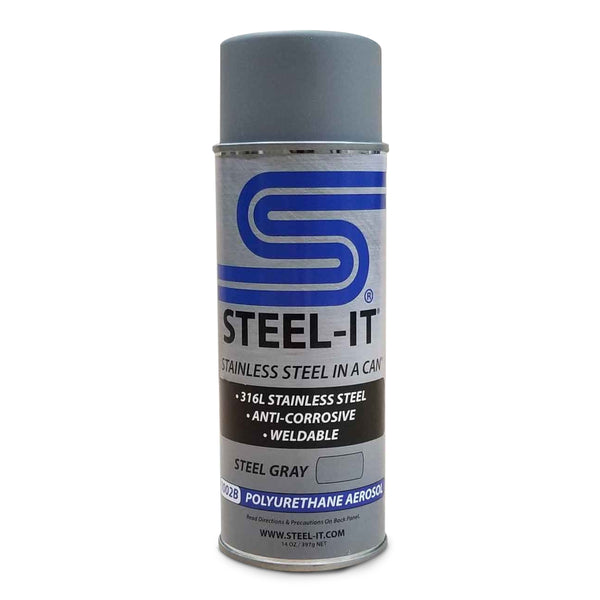 Steel-It GRAY (QTY 2) Aerosol Spray Can #1002 - Jimco Racing Inc