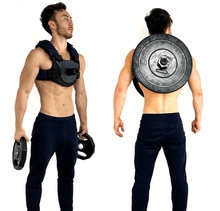 Load image into Gallery viewer, adjustable weighted vest that doesn't require custom weight vest plates
