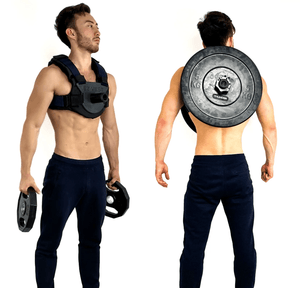 adjustable weighted vest that doesn't require custom weight vest plates