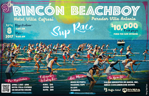 rincon beachboy SUP race paddle board contest