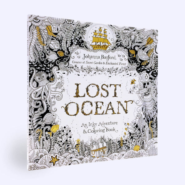 Lost Ocean: Inky Adventure Coloring Book