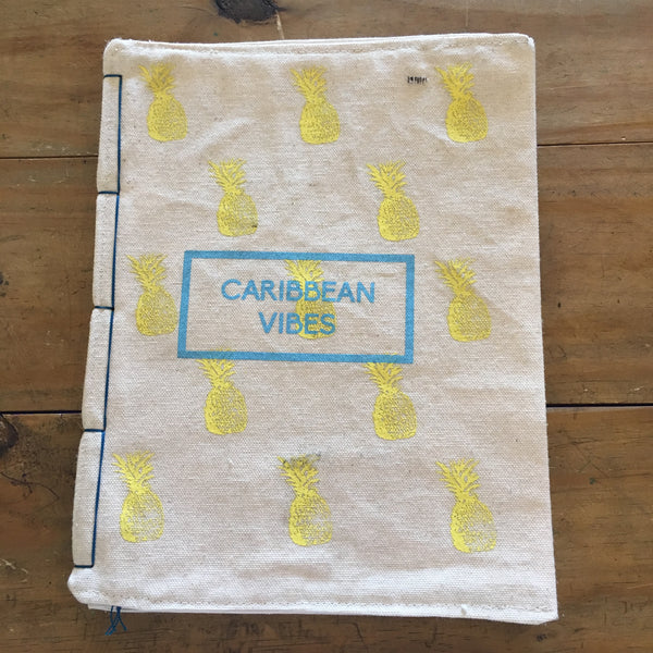Caribbean Vibes Canvas Notebook