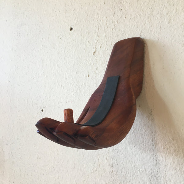 Hand-Carved Hand Surfboard Wall Racks