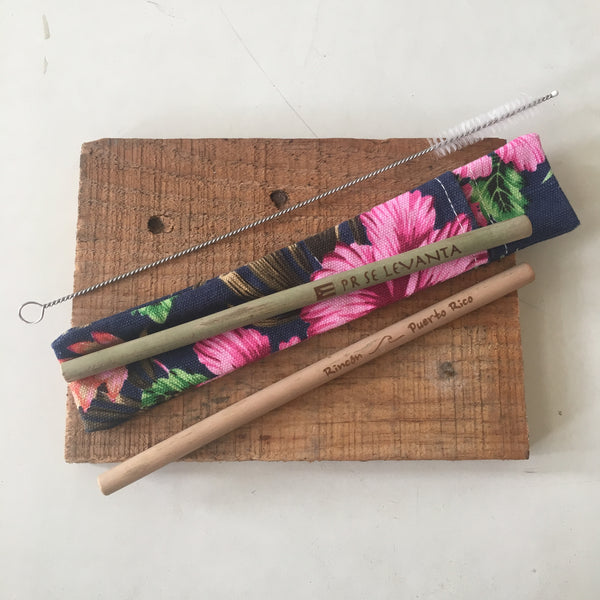 Reusable Bamboo Straw Kit