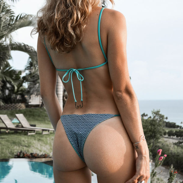 Seaglass Swimwear #256 - High Cut Brazilian Bikini Bottom