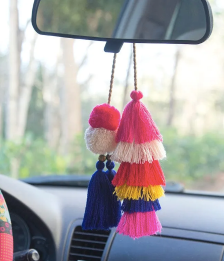 Tassel and Pompom Tie-On