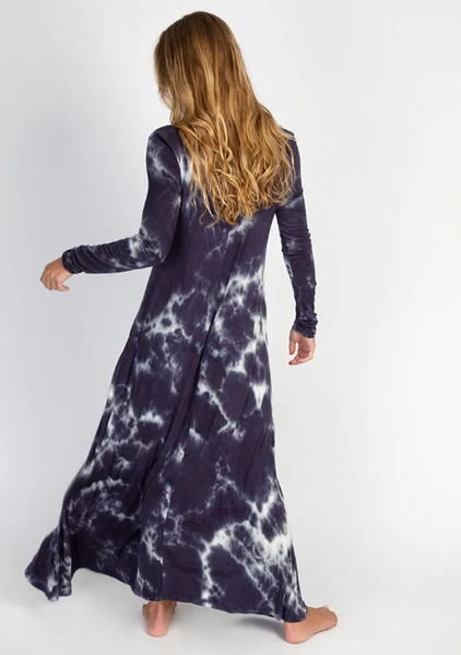 Long Sleeve Tie Dye Maxi Dress
