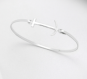 Sterling Silver Anchor Bracelet