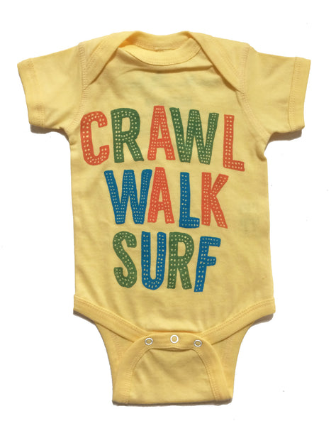 Crawl Walk Surf Onesie