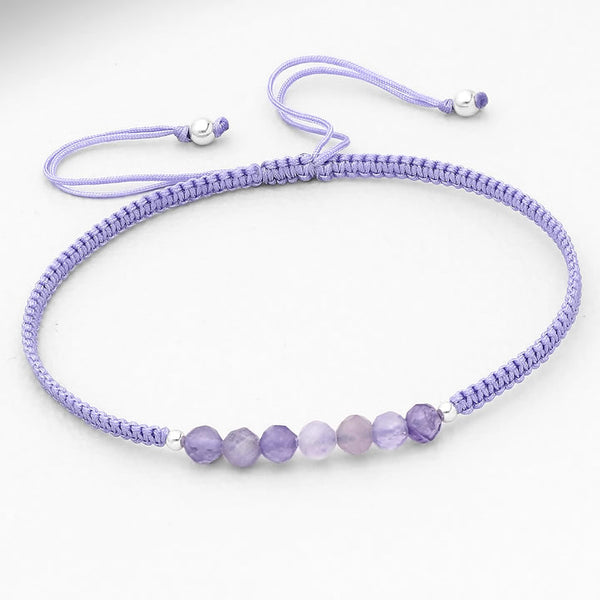Gemstone and Sterling String Bracelets