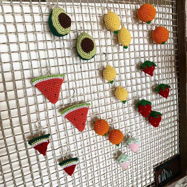 Crochet Fruit Earrings