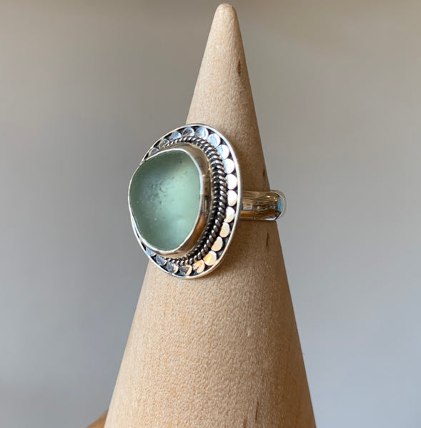 Seaglass and Shell Rings by Betty