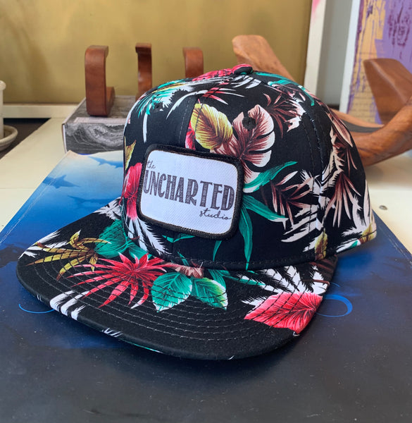 Uncharted Tropical Print Snapback Hat