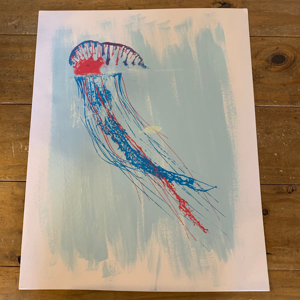 Mixed Media Jellyfish Art
