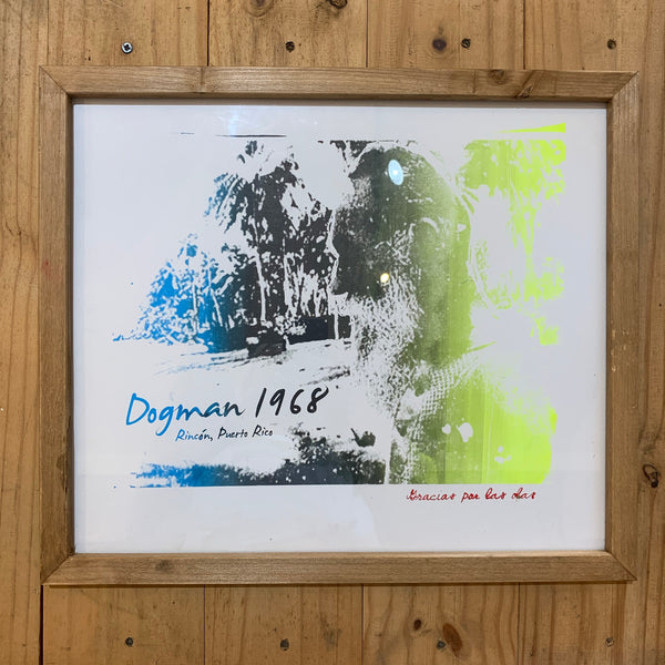 Framed Dogmans Screenprint