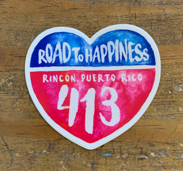Rincón Road to Happiness 413 Sticker