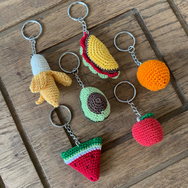Crochet Fruit Keychains